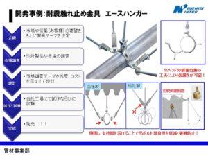 開発事例:耐震触れ止め金具 エースハンガー