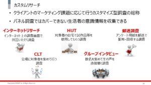 カスタムリサーチの詳細説明