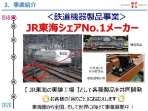関ケ原製作所の事業 鉄道機器製品事業