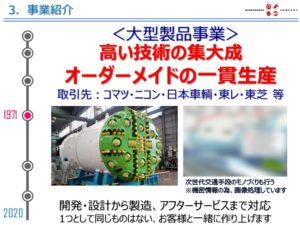 関ケ原製作所の事業 大型製品事業